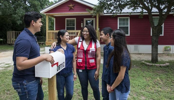 After losing their home to Hurricane Harvey, the Ortiz family received $6,500 in recovery financial assistance from the Red Cross to help with living expenses and furnishing their new home.