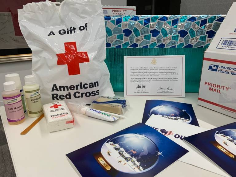 deployed troops receive cards kits from white house