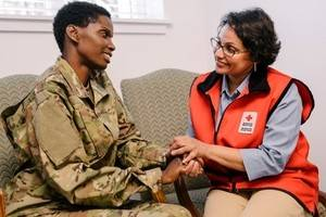 red cross supports military