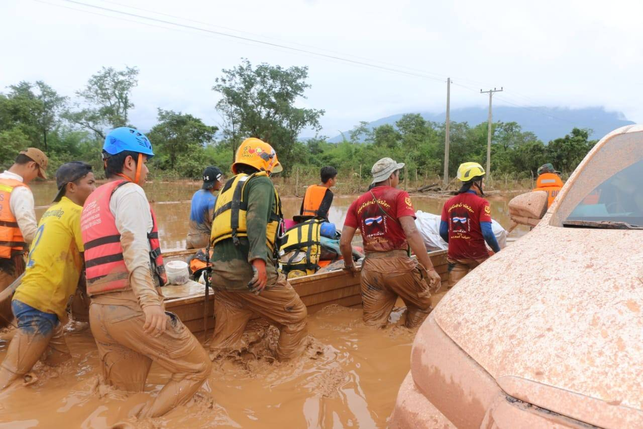 The Red Cross is providing emergency assistance in Laos after a dam collapse caused unprecedented flooding. Credit: IFRC