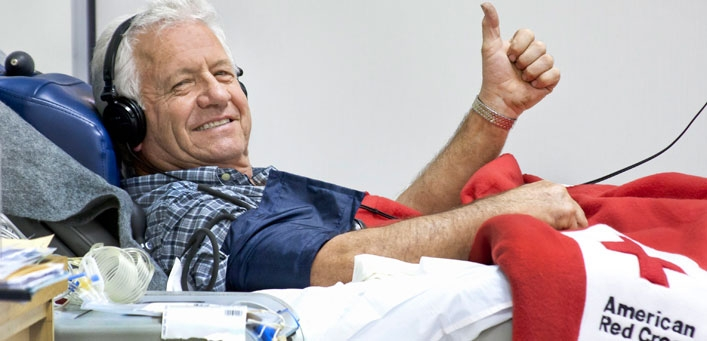 Leroy Straight averages 20-24 visits per year to the Donor Center to give platelets.