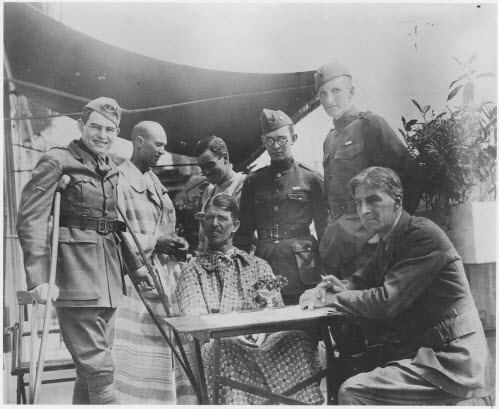 Image of Earnest Hemingway in World War I