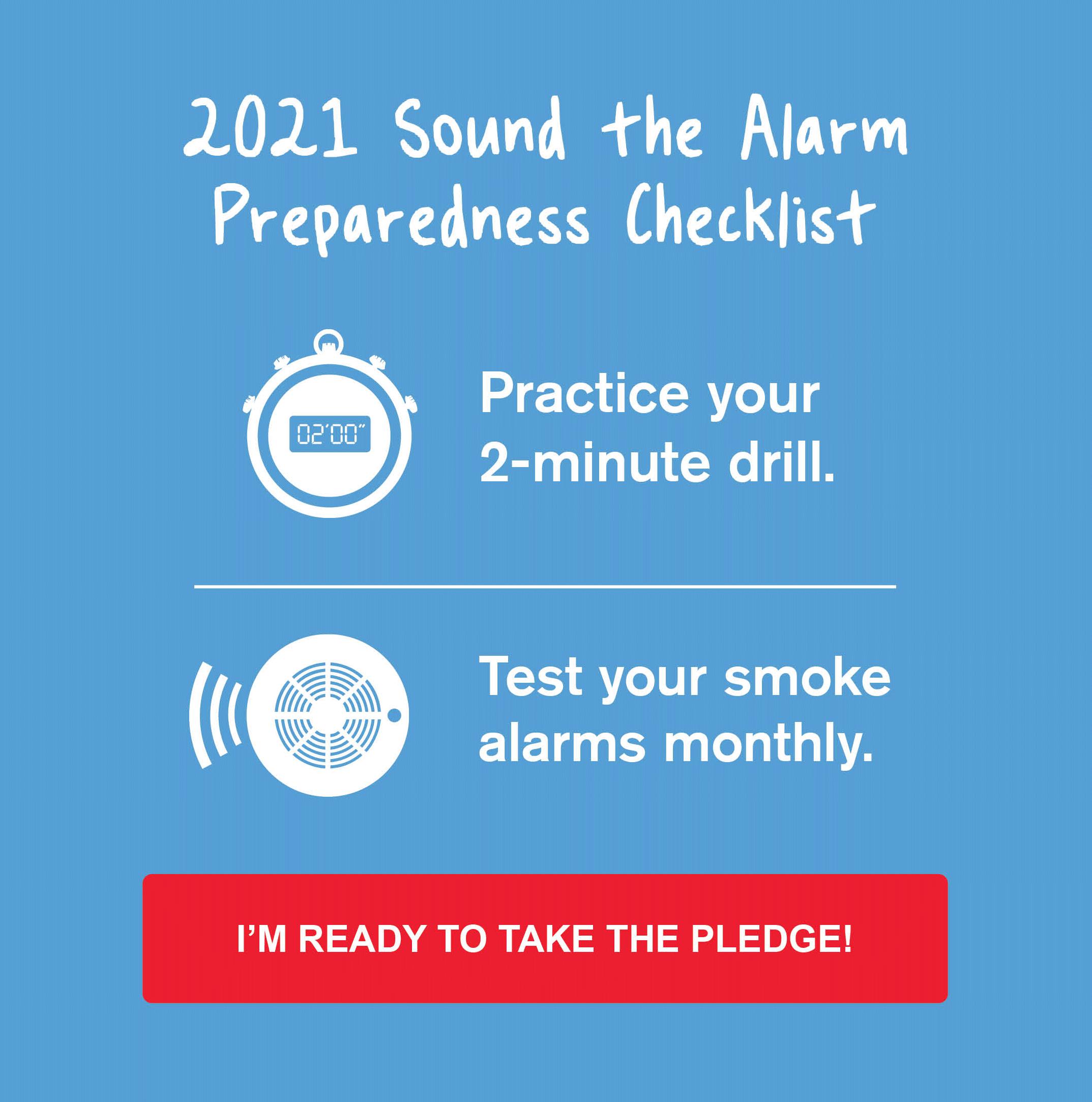 2021 Sound the Alarm Preparedness Checklist