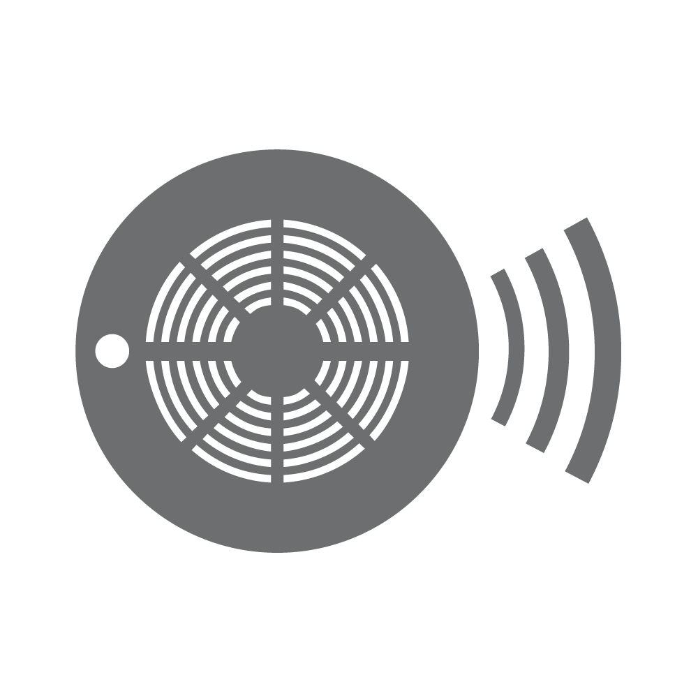 Smoke alarm icon