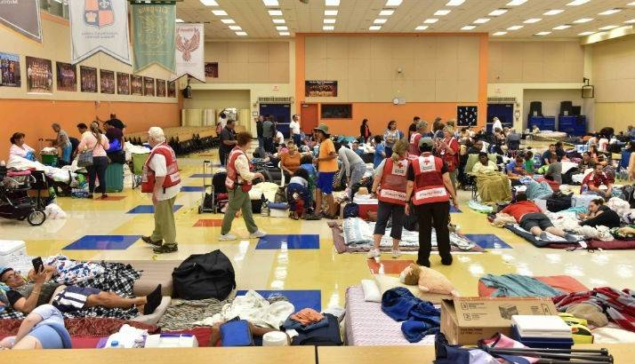 Red Cross shelter