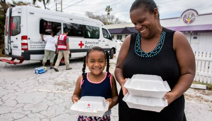 Mother and daughter hold meals