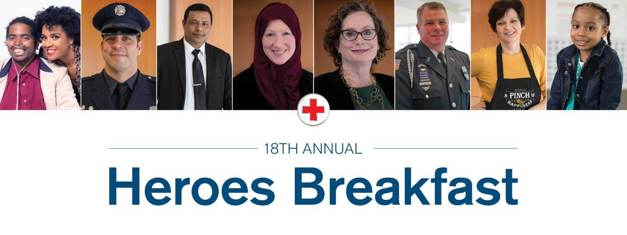 Chicago Red Cross Heroes Breakfast - headshots of diverse demographic of people