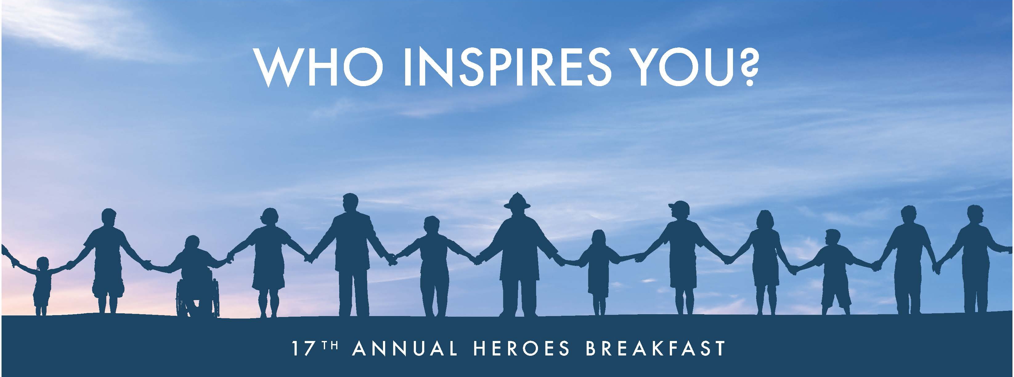 Chicago Red Cross Heroes Breakfast - Who Inspires You? - Shadow of people holding hands
