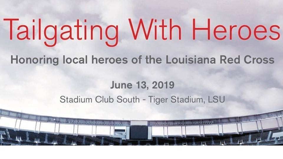 Text header Tailgating with Heroes