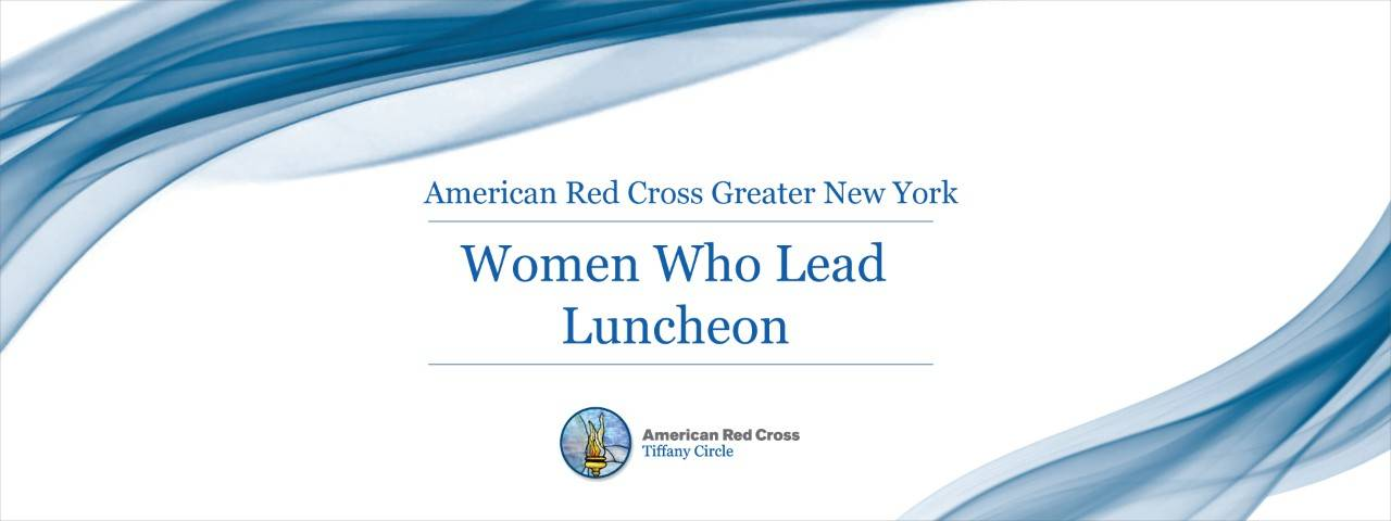 Greater New York Red Cross Women Who Lead Luncheon web banner