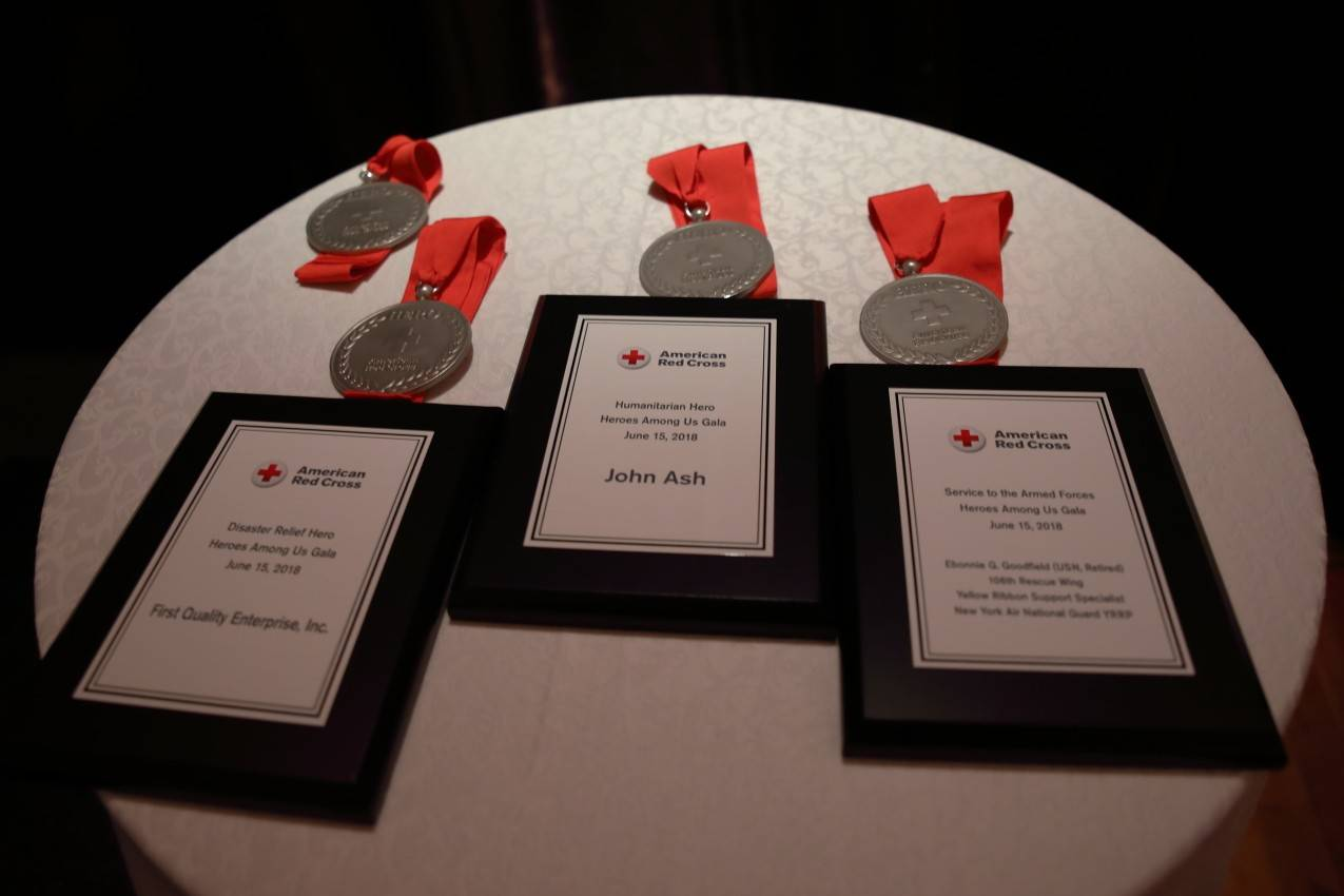 Long Island New York Red Cross heroes award plaques
