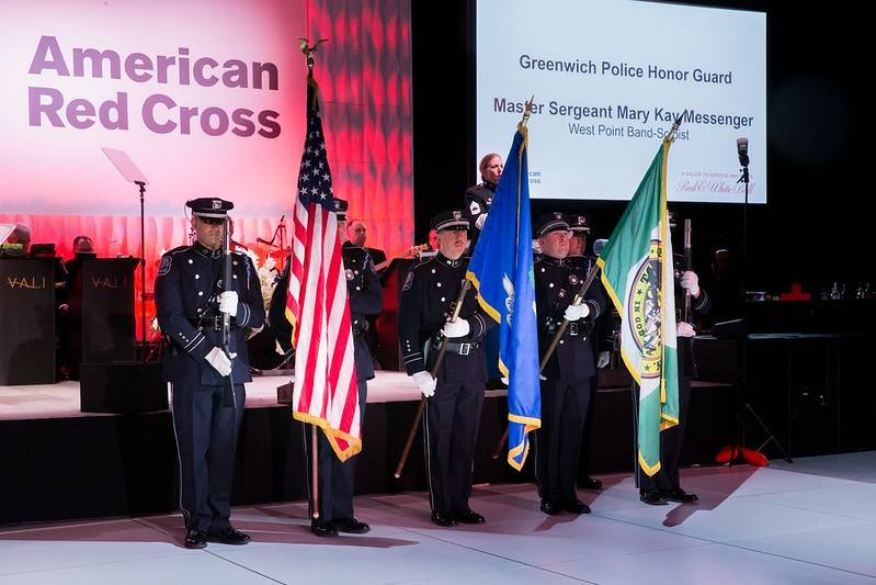 Metro New York Red Cross Ball color guard