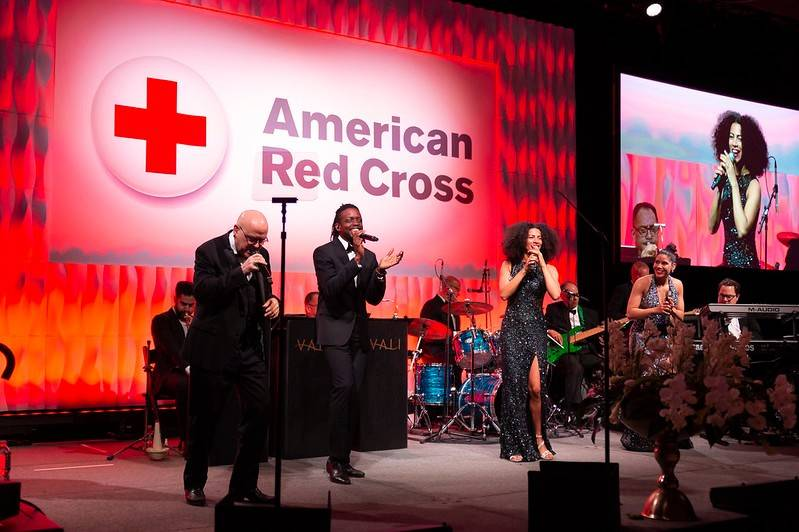 A band plays at the Metro New York Red Cross Ball.