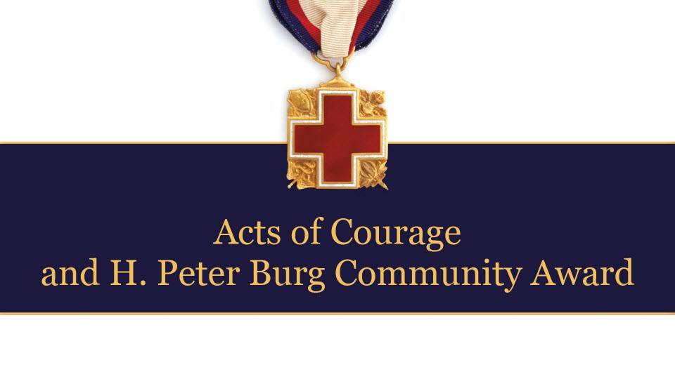 Northeast Ohio - Acts of Courage Heroes event banner featuring a medal