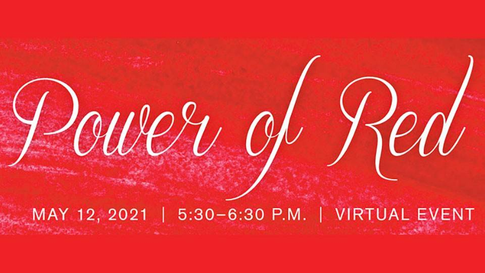 2021 Power of Red Gala banner