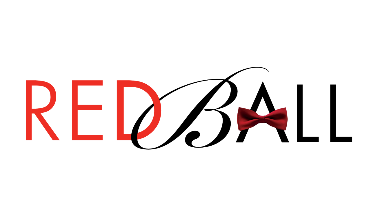 Red Ball logo with black bow tie