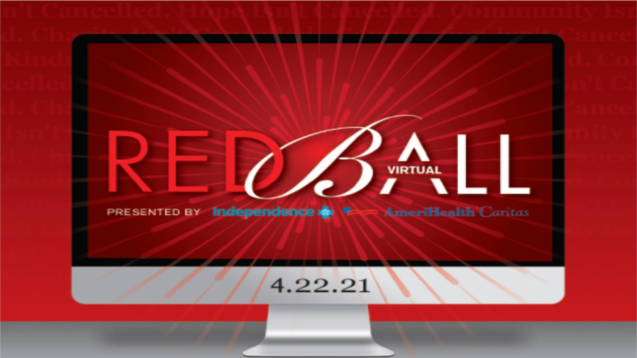 Red Ball logo with the word virtual forming the cross bar of the letter A in Ball