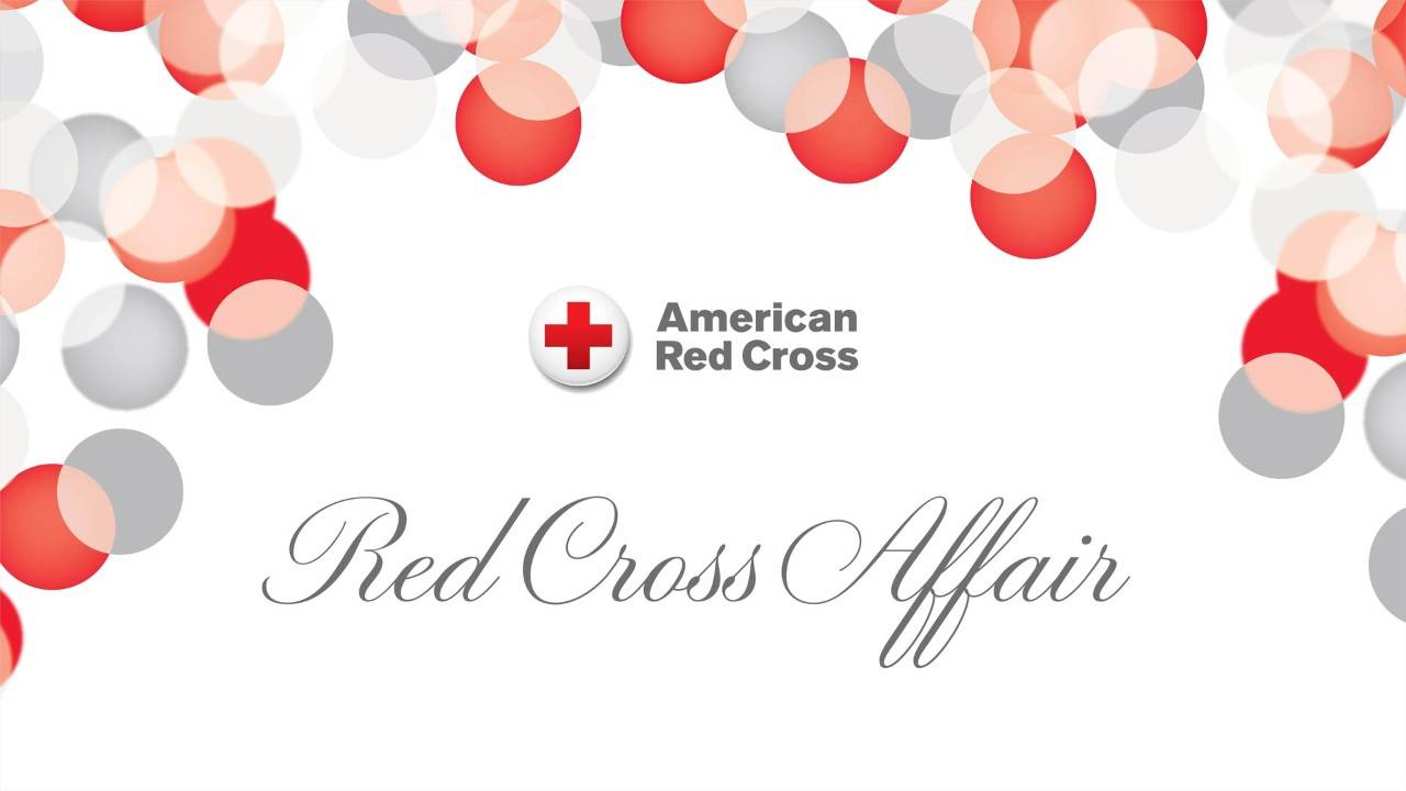 Graphic design advertising Red Cross Affair auction and dinner event