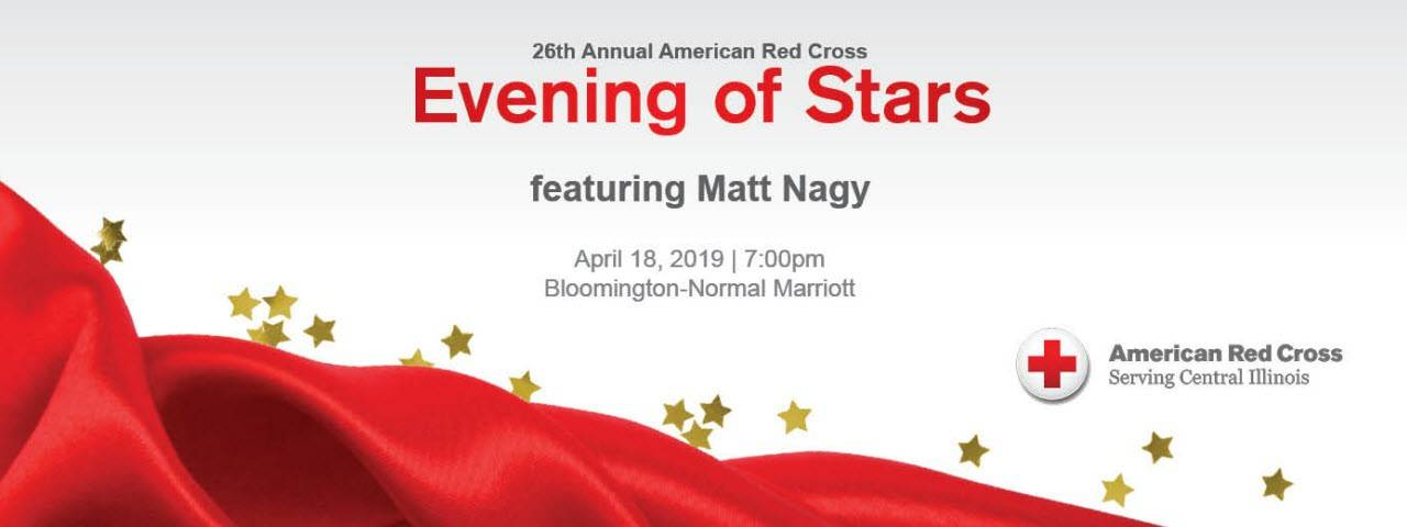 Central & Southern Illinois Red Cross Evening of Stars Event Banner