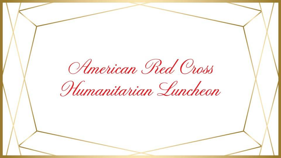 Connecticut Red Cross Humanitarian Luncheon website banner