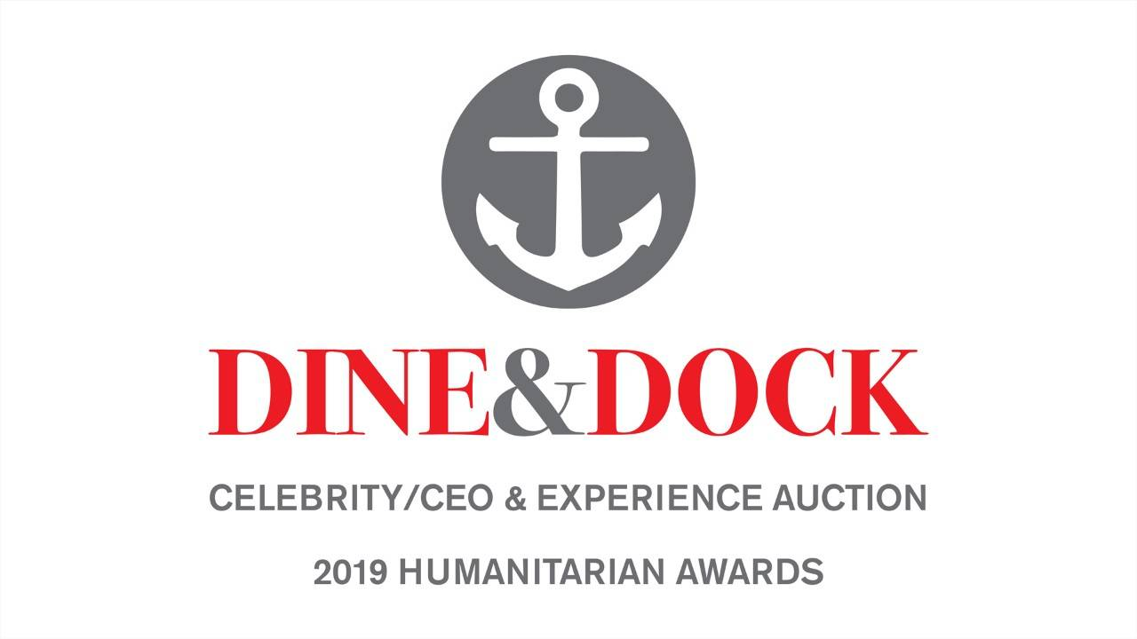 Dine and Dock event header with image of a boat anchor