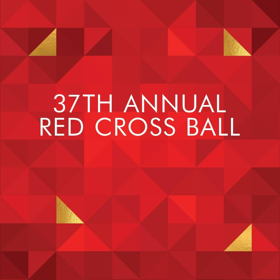 37th Annual South Florida Red Cross Ball Geometric Red Pattern