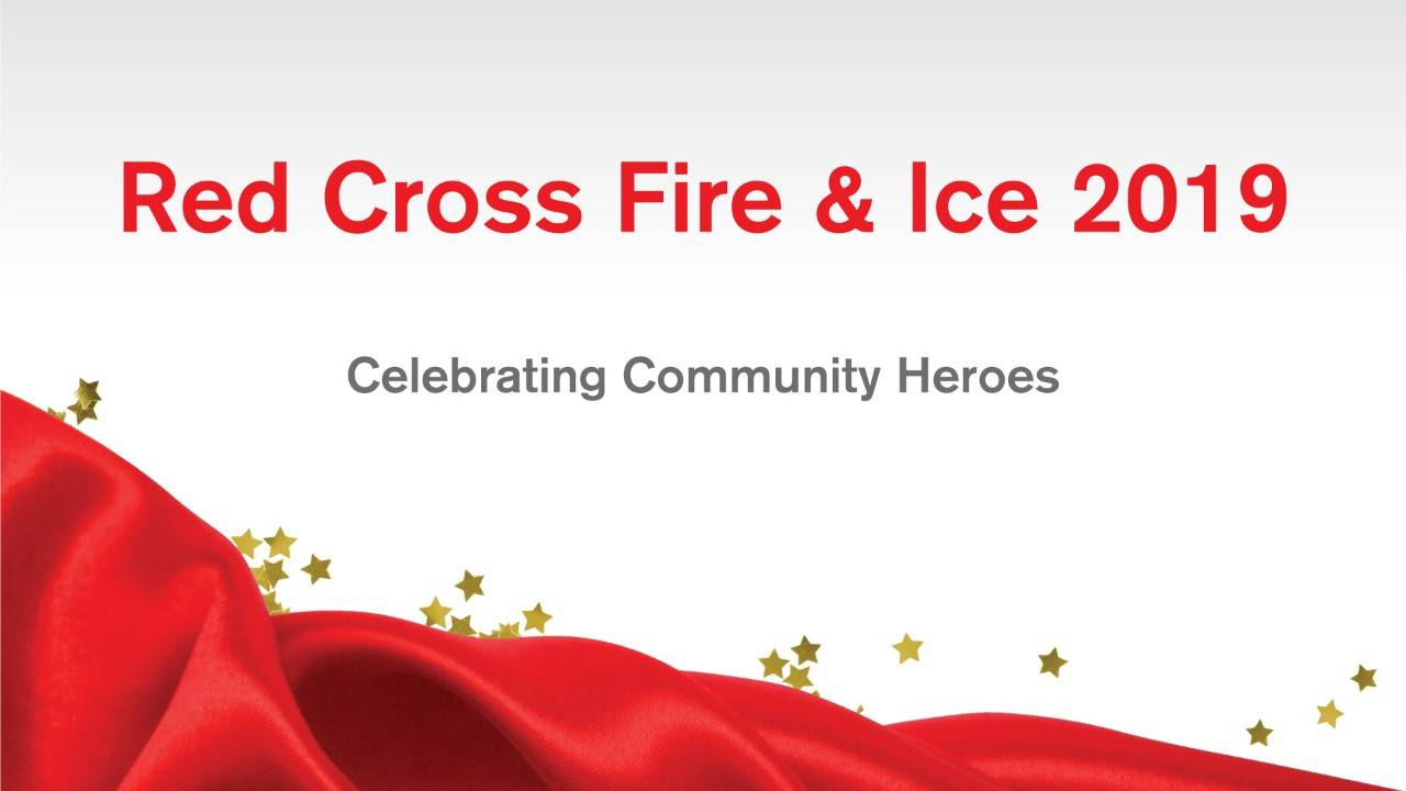 Fire and Ice event banner for the American Red Cross North Country Chapter