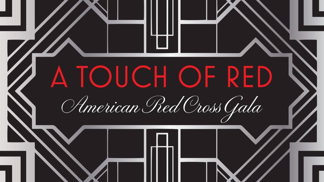 Alabama Red Cross Gala page header with geometric design