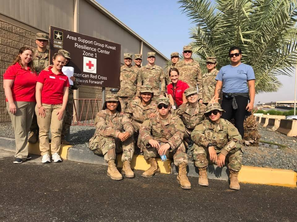 American Red Cross SAF chapter at military installation Camp Arifjan in Kuwait