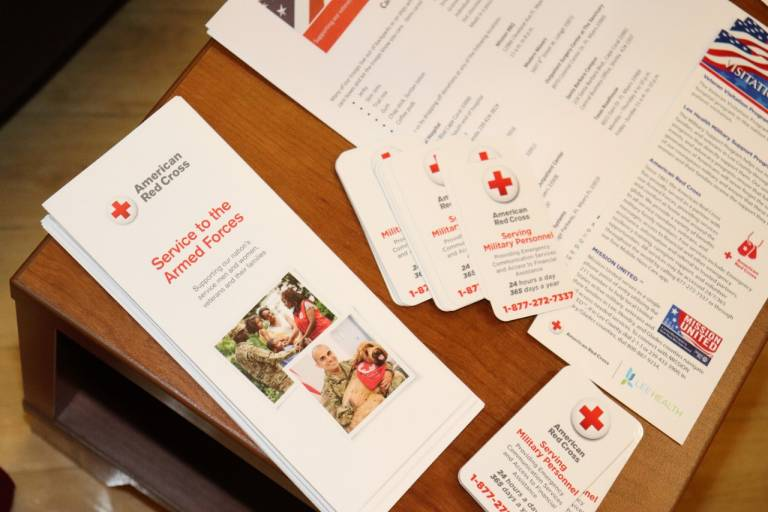Red Cross materials for vets
