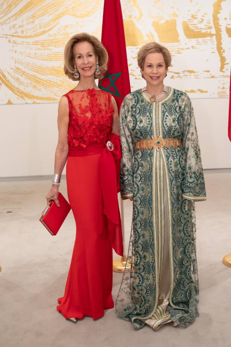 Ambassador Bonnie McElveen-Hunter with Ambassador of Morocco Her Royal Highness Princess Lalla Joumala.