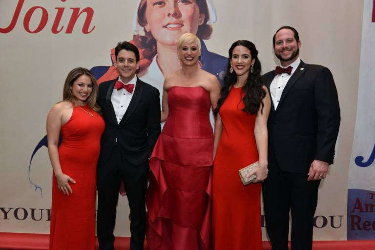 Red Cross Ball Co-Chairs with guests