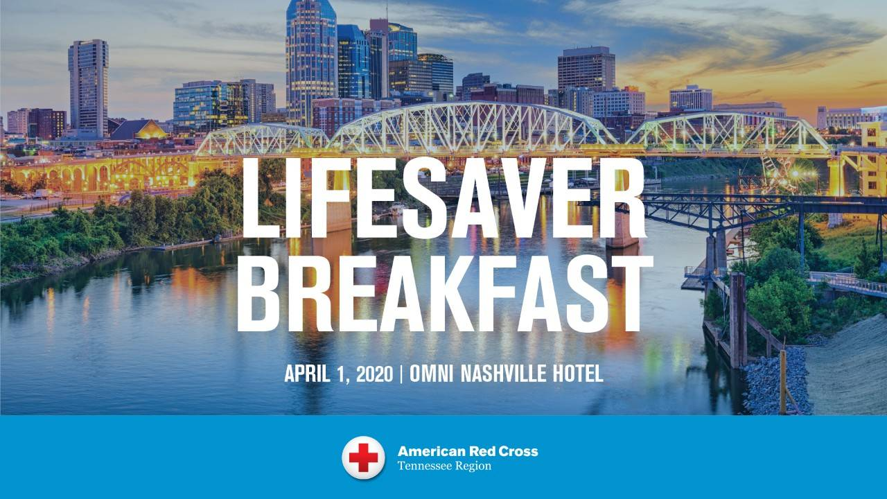 Lifesaver Breakfast Nashville Graphic Header with image of Nashville skyline