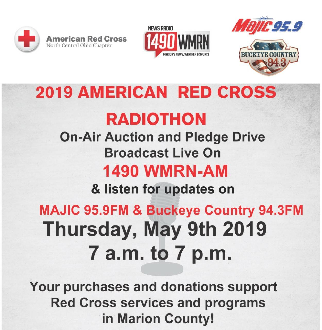 Ohio Buckeye Red Cross Radiothon 2019
