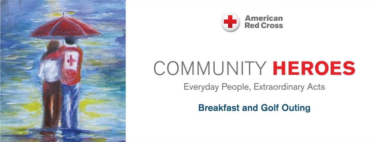 Wisconsin Red Cross Community Heroes Breakfast and Golf Event Banner