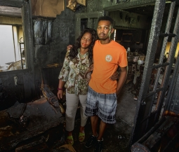 Couple in burned home