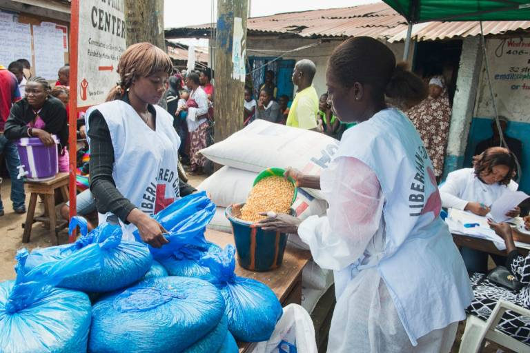 Ebola-africa-women-providing-food-supplies