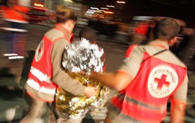 French Red Cross providing comfort & support after attack in Nice, France