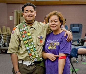 boy scout and blood donor