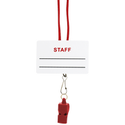 Staff Name Tag, Break-Away Lanyard & LIFE Whistle Combo Pack