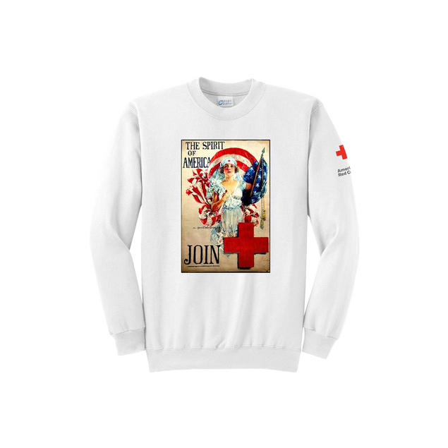 Crewneck with Spirit of America posters