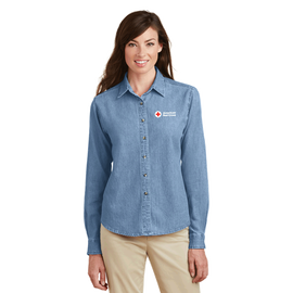 Port & Company - Women's Long Sleeve Value Denim Shirt