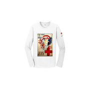 Unisex Long Sleeve T-Shirt with Spirit of America Vintage Print