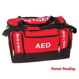Red Cross First Responder/Lifeguard Bag with Labeled Pockets
