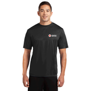 Performance short sleeve tee shirt with American Red Cross logo