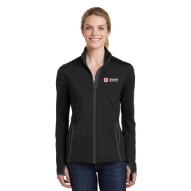 Women's Moisture-Wicking Stretch Contrast Zip Jacket