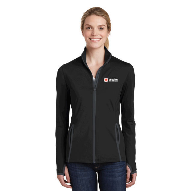 Women's Moisture-Wicking Stretch Contrast Zip Up Jacket