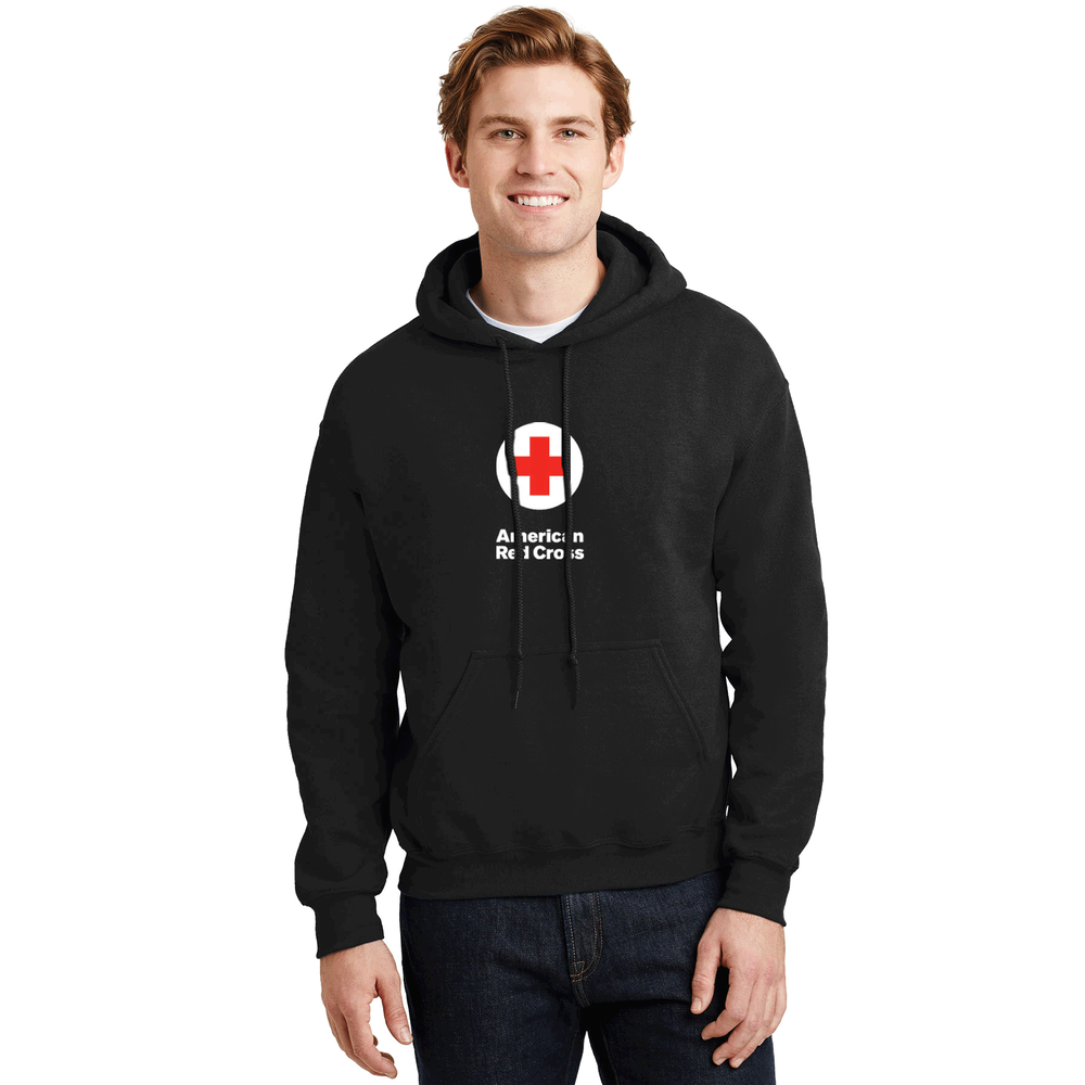 7b31f103224 Unisex Pullover Hoodie with American Red Cross Logo