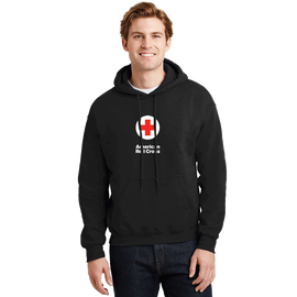Unisex Pullover Hoodie with American Red Cross Logo