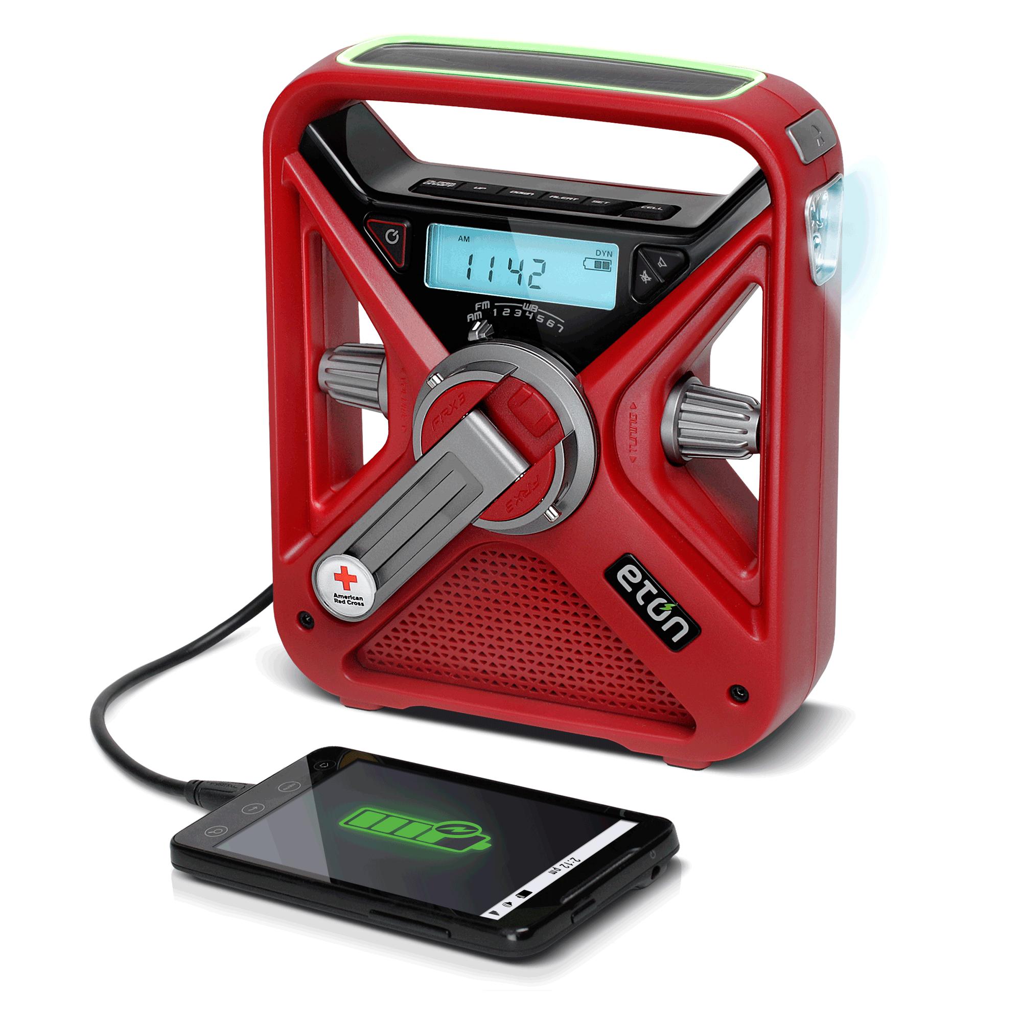 Eton FRX3 Multi-Powered Météo radio et téléphone portable Chargeur New Free Ship